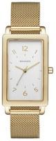 Skagen Women's 'Hagen' Rectangle Mesh Strap Watch, 22Mm X 43Mm