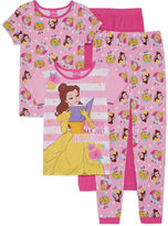 Asstd National Brand 4-pc. Beauty and the Beast Kids Pajama Set Girls