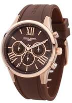 Jorg Gray Women's Quartz Watch with Brown Dial Analogue Display and Brown Rubber Strap JG1500-21