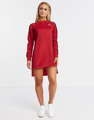 Kappa banda t-shirt dress in red