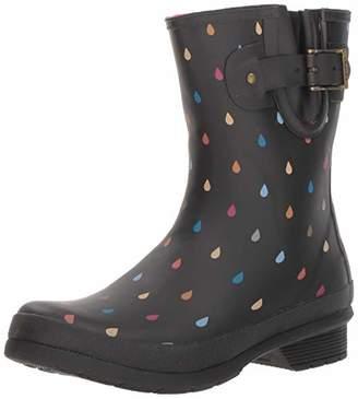 Chooka Women's Rain Boot's Mid-Height Printed Memory Foam