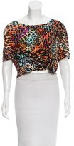 Torn By Ronny Kobo Short Sleeve Crop Top w/ Tags