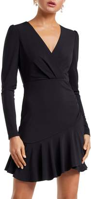 Ever New Rumi Asymmetrical Long Sleeve Skater Dress