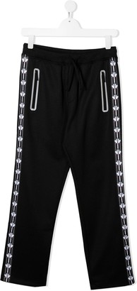 DSQUARED2 TEEN logo stripe track trousers