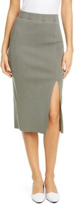 NSF Arizia Side Slit Ribbed Skirt