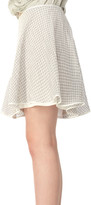 Max Studio Gingham Flirty Skirt