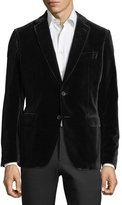 Salvatore Ferragamo Velvet Two-Button Blazer