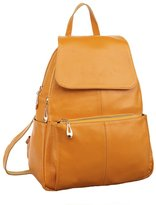 ILISHOP New 2015 Women's Fashion Back-to-school Genuine Leather Multi-zippered Fashion Tote Top Handle Bag Backpack Purse Handbag