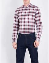 Salvatore Ferragamo Checked Slim-fit Cotton Shirt