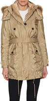 Burberry Women's Fur Trimmed Parka with Detachable Down-Filled Jacket