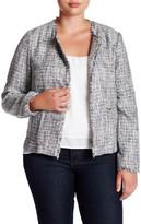 Susina Azul Tweed Jacket (Plus Size)