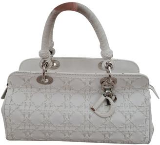 Christian Dior White Leather Handbags