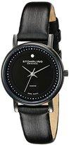 Stuhrling Original Women's 734L.03 Classic Ascot Castorra Elite Ultra Slim Genuine Diamond Black Watch