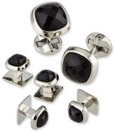 Cufflinks Inc. Faceted Onyx Cushion Stud Set