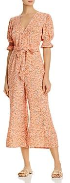 Faithfull The Brand Anka Floral Print Puff Sleeve Jumpsuit