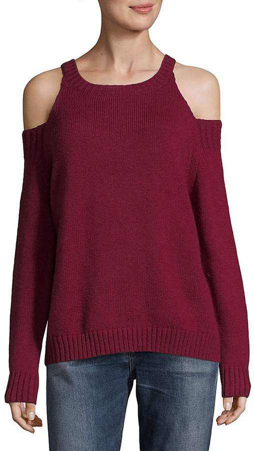 Saks Fifth Avenue RED Women's Cold Shoulder High Neck Sweater