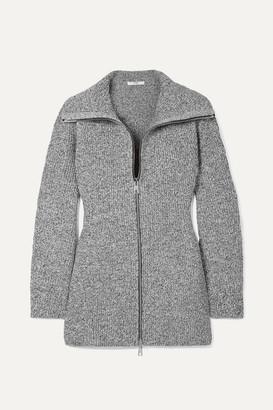 Tibi Melange Knitted Jacket - Gray