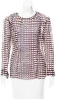 Nina Ricci Wool-Accented Silk Top