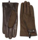 John Varvatos Deerskin & Wool Zip Gloves