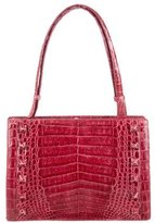 Nancy Gonzalez Studded Crocodile Shoulder Bag