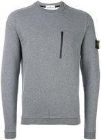 Stone Island chest zipped pocket sweatshirt