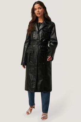 NA-KD PU Pocket Coat