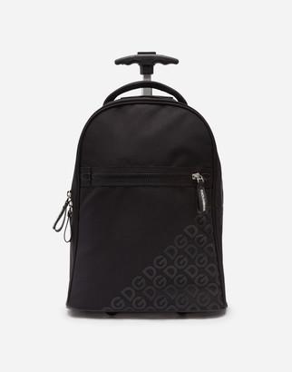 Dolce & Gabbana Cordura Nylon Wheelie Bag With Rubberized Logo