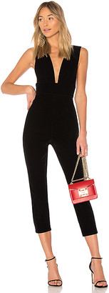 by the way. Gloria Deep V Velvet Jumpsuit