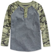 Epic Threads Little Boys' Camo-Print Henley, Only at Macy's