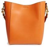 Frye Harness Leather Bucket Bag - Orange