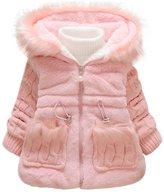 Leegor Baby Girls Kids Outwear Clothes Winter Jacket Coat Snowsuit Clothing (18M, )
