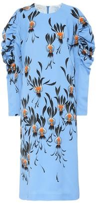 Dries Van Noten Printed crApe midi dress