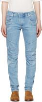 Pierre Balmain Blue Panelled Jeans