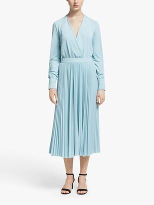 Marella Vandea Pleated Skirt, Light Blue