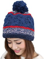 Kylin Express Womens Warm Beanie Hat Skully Cap Ski Snow Hat Winter Knit Hats, Navy