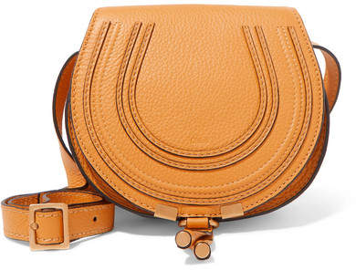 Chloé Marcie Mini Textured-leather Shoulder Bag - Mustard