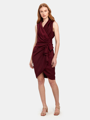 AllSaints Cancity Gathered Midi Dress