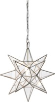 """Worlds Away Faceted 20"""" Star Pendant"""