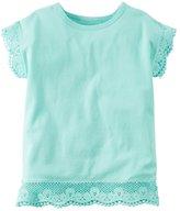 Carter's Baby Girl Crochet Lace Pom-Pom Tee