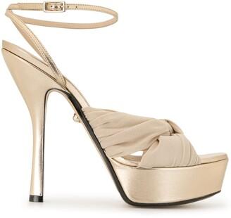 ALEVÌ Milano 135mm Eleonor knot detail sandals