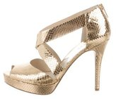 Michael Kors Embossed Ariel Sandals