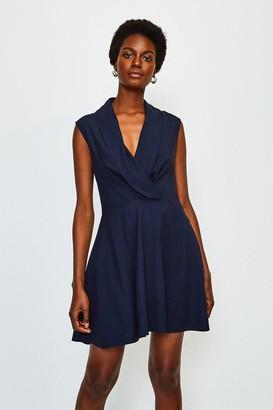 Karen Millen Drape Wrap Sleeveless Dress