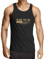 lepni.me Vest Dad to be - Loading new dad tshirt funny gifts for dad 1 dad, baby daddy gifts ( Red White)
