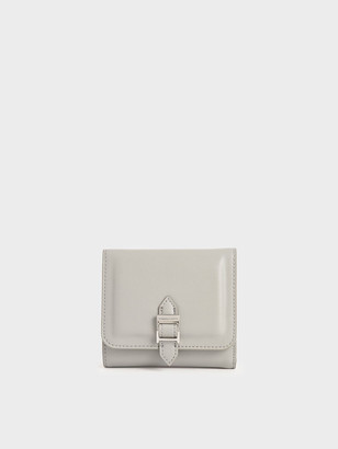 Charles & Keith Buckle Strap Short Wallet