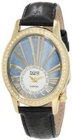 Burgi Women's BUR058YG Swiss Quartz Diamond Strap Watch