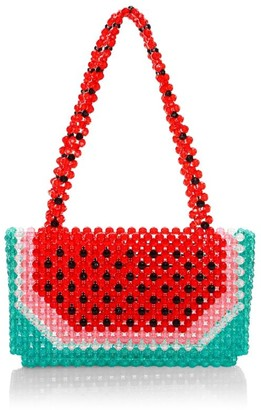 Susan Alexandra Watermelon Dream Beaded Bag