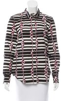 Suno Striped Button-Up Top w/ Tags
