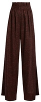 Stella Jean High-waisted Prince of Wales-checked trousers