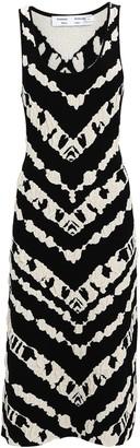 Proenza Schouler White Label Abstract Knit Jacquard Tank Dress