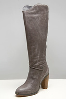 Go-Go Dark Gull Grey Leather Boots